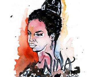 Nina Simone Portrait digital print