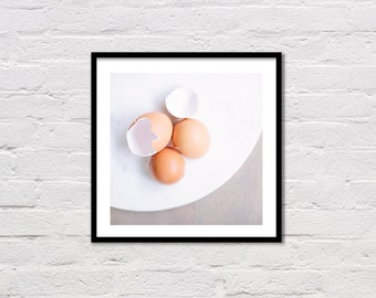 Kitchen Art, Egg Print, Kitchen Printable, Easter Wall Art, Kitchen Decor, Printable, Food Photography, Easter Decor, Instant Download
