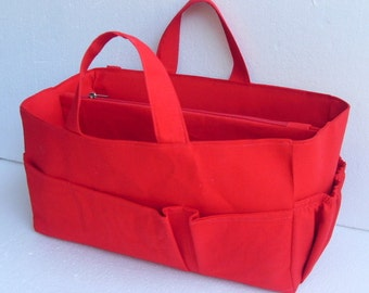 Diaper Purse organizer for Louis Vuitton Neverfull GM - Bag organizer insert in Rich Red