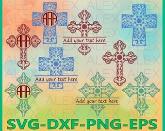 70% OFF, Cross Svg, Cross Mandala Cut Files, Cross Monogram SVG, Cross Split Monogram, Mandala Cross, Cross Cut Files, svg, png, eps, dxf