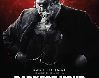 DARKEST HOUR Movie Poster - 3 Size Options - Includes a Free Surprise A3 Poster (1)