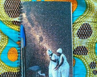 Mirlande Taming Cosmos Blank Journal  African American Art Collage