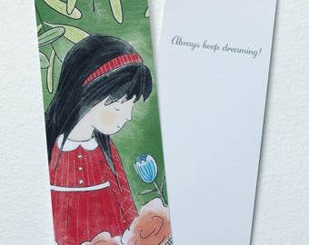BOOKMARK Red Dress Garden