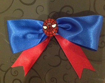 Spider-Man Inspired Hair Bow