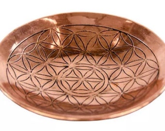 Flower of Life Copper Altar Bowl