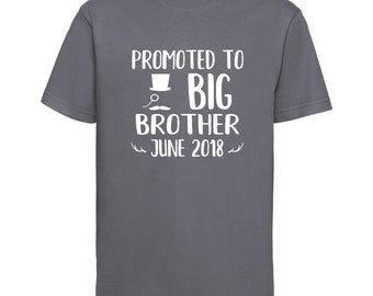 Promoted to Big Brother Shirt / Pregnancy Announcement Shirt / Big Brother Shirt /Pregnancy Reveal / New Baby Announcement Reveal Shirt