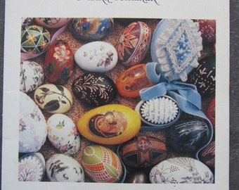 """Book """"painted Easter eggs"""" eggs - old decorative March 1992 Techniques"""