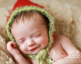 Kids christmas baby hats Newborn Size photo prop hood