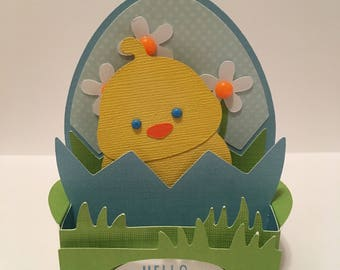 Easter chick box card