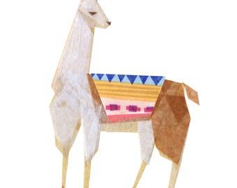 Linda Llama - Llama Art Print, Llama Decor, Llama Art Print