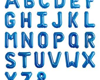 letter a blue