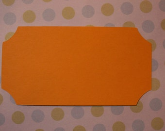 50 2 inch by 3 7/8 inch blank ticket tags for cards, scrapbooking, weddings, parties, crafts