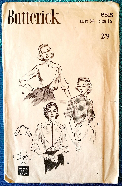 Chaquetas bolero rápido y fácil de raro vintage 1950 con el patrón ...