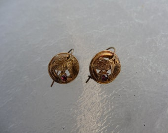 Victorian Earrings Gold-Filled Paste Stone