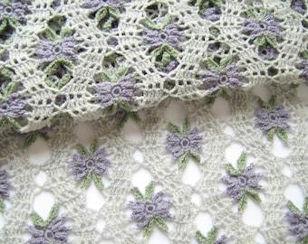 Crochet Flower Stole