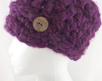 newsboy hat, newsboy children,  child winter hat, child knit hat, hat with brim, purple hat, children  crochet hat