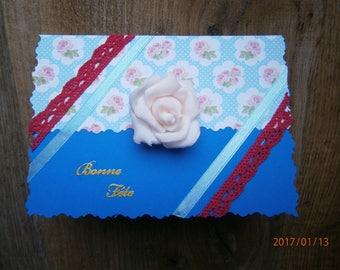 "Birthday card, ""Happy birthday"", my little flower"