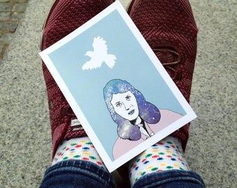 Sylvia Plath (Illustrated Literary Postcards & Prints: Writers)