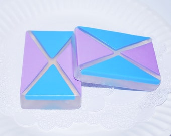 2 artisan Soaps - mosaic soap - rectangle soap - wedding soap - Party Soap - Scented soaps - Glycerin Soap - soap gift