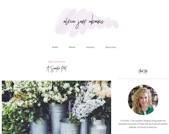 "Blogger Template, Blog Template - ""Alexa 