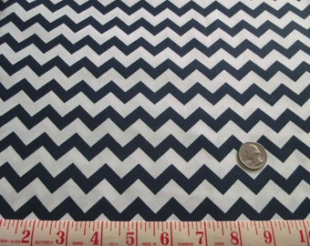 SALE!! 5.50 Navy Small Chevron Fabric
