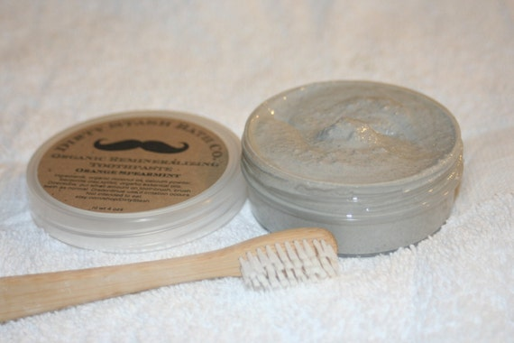 All Natural Remineralizing Toothpaste made with Organic ingredients Orange Clove essential oil 4ozs