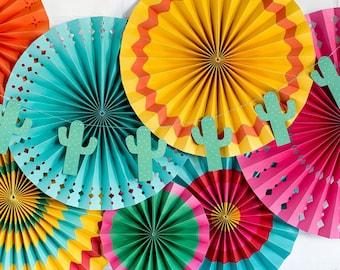 Fiesta Cactus Party Banner | Mexican Fiesta Birthday Cactus Party Decor Bridal Fiesta Party Cinco De Mayo Cactus Fiesta Decor Llama Party