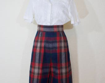 1950's plaid culotte shorts