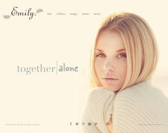 Musician Wordpress Website Design - Custom Personal Website Design Performance Artists Portfolio Website Web Design Wordpress Website Design