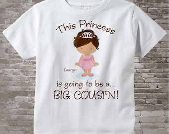 Princess Big Cousin Shirt - Big Cousin shirt - Big Cousin Onesie - Big cousin tshirt - Big cousin onsie - Personalized gift | 03182014c