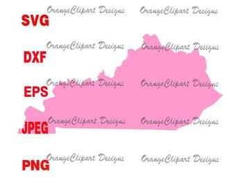 Kentucky outline Svg, Kentucky outline Cricut Cut File,Kentucky outline Vinyl,Digital File