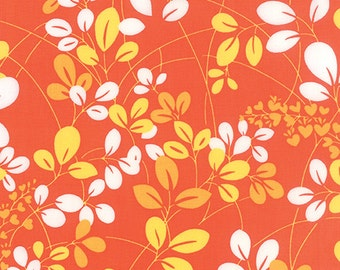 Orange Sprigs floral fabric by V and Co for Moda Fabrics