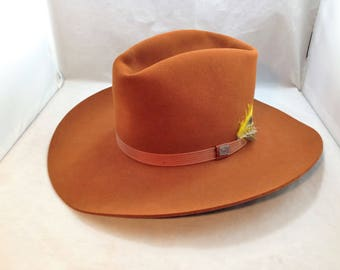 Resistol 3X Beaver Self-Conforming Cowboy Hat Style Twister Color Whiskey Size 7 1/8   01799