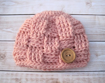 Crochet Girls Hat, Hat for Toddlers, Childrens Hat, Kids Hat, Childs hat, Girl Toddler Hat, Girl Beanie, Toddler Beanie, Child Beanie, Pink