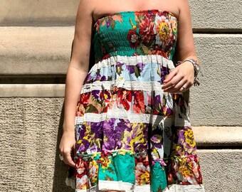 Cotton Floral Print Dress