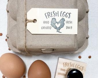 Egg Carton Stamp - Egg Carton Tag - Egg Stamp - Egg Carton Label - Personalized Egg Carton Label - Farmhousemaven