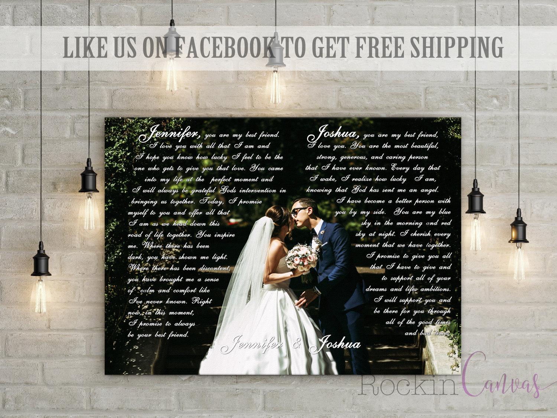 Votos boda lienzo votos imprimir de boda 1 de regalo de