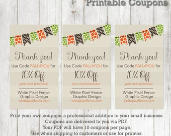 Coupon template Etsy