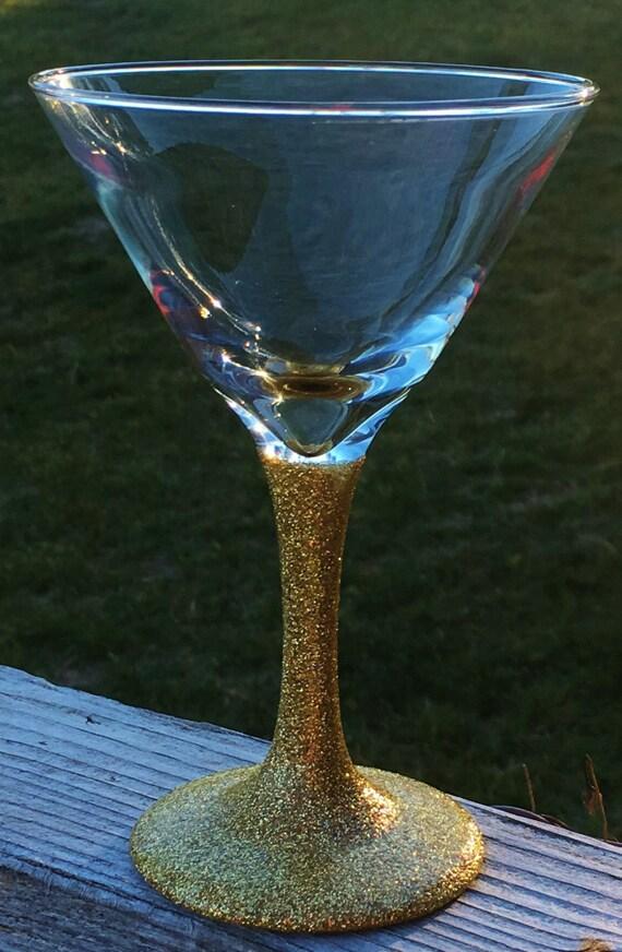 Glitter Dipped Martini Glass, Bridal Shower Gift, Birthday Gift, Secret Sister Gift, Bachelorette