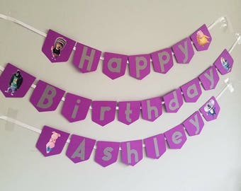 Sing the movie happy birthday banner with name and any color option. Sing the movie birthday decor