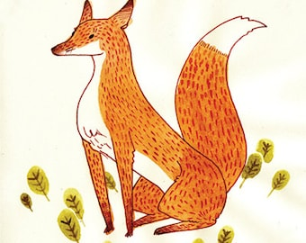 Noble Fox Giclee Print