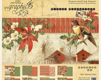 "Graphic 45 ""Winter Wonderland""  12 x 12 Paper Pad"