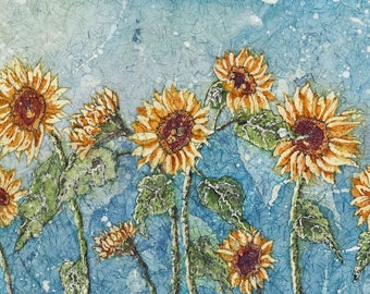 Metal Sunflower Wall Art,Watercolor Sunflowers,Sunflower art, Sunflower Painting,Watercolor Paintings,  Watercolor Prints, Sunflower Prints,