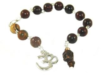 Meditation & Prayer Beads for Recovery 12 Step Programs / Om and Buddha Symbols