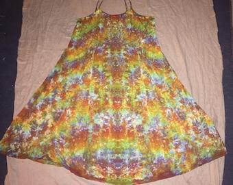 6233 2XL Rayon Long Ribbon Strap Dress