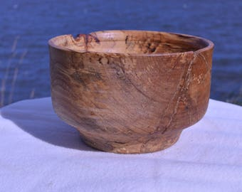 Highly Detailed Rustic Wooden Hand Turned Bowl