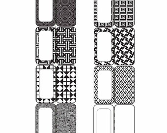 Tabs for organizing, school organization, colored printable tabs, instant download printable tabs, black and white patterns