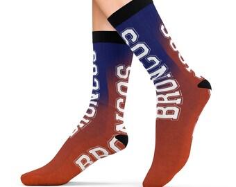 Denver Broncos Football Design Printed Sublimation Socks