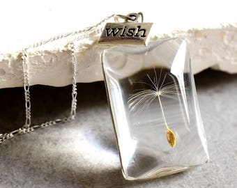 925 Sterling Silver Original Dandelion Necklace