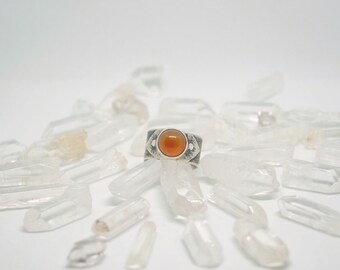 Handmade sterling silver ring with Carnelian